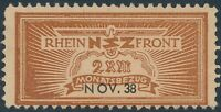 Stamp Germany Revenue WWII 3rd Reich NSZ National Newspaper Nov 1938 MNG