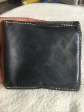 Vintage Blue Harbour Gentlemans Brown Leather Bifold Wallet.