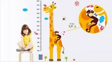 Height Measurement Growth Chart Tree Giraffe Wall Decal Removable Sticker
