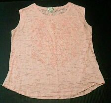 In Love With Derek Womens Tank Top Plus Size 3X Pink Textured Burnout