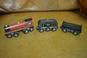 toys r us wooden train number 4 with tender