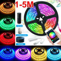1-5M WiFi Smart 5V USB RGB 2835 LED Strip Light Tuya APP For Amazon Alexa Google