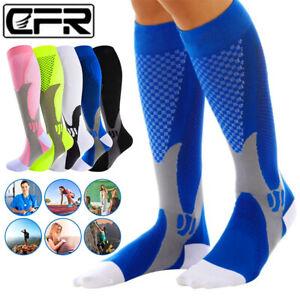 1 Pair Compression Socks Calf Sleeve Leg Support Brace 20-30mmHg For Men Women