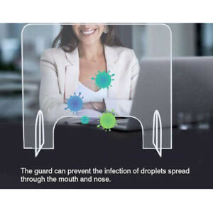 Sneeze Guard Protective Clear Acrylic Table Desk Counter Safety Shield