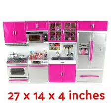 Mini Kitchen Toy Battery Operated Cooking Play Set Gift for Kids Light +Sound