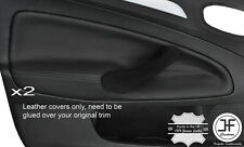 BLACK STITCH 2X FRONT DOOR CARD TRIM LEATHER COVERS FITS FORD MONDEO MK4 07-13