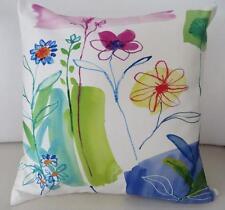 Watercolour Painted Look 'Summer Garden' Faux Silk Cushion Cover 45cm  #1
