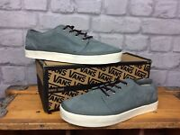 VANS UK 6.5 EU 40 GREY OFF THE WALL LEATHER LOW TRAINERS LADIES MENS UNISEX