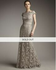 NWT Tadashi Shoji Evening Gown 4 ILLUSION Spring LACE MERMAID $499 MOTHER BRIDE