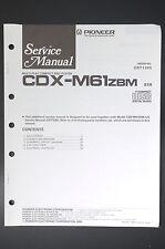 PIONEER cdx-m61 Original Service-Manual/Istruzioni/Schema Elettrico! o11