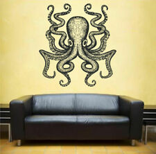 ik1201 Wall Decal Sticker octopus marine animals bathroom