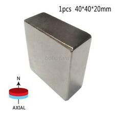 Super Strong High Quality Silver Earth Neo Magnets Neodymium Block 40x40x20mm