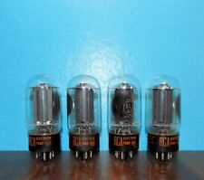 4 Matched RCA 6L6GC Tubes Side Halo Getters Sweet!