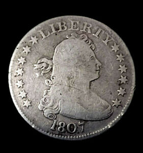 1807 GENUINE 25C Draped Bust Silver Quarter VERY SCARCE COIN INDEED!