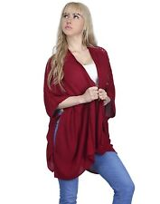 Womens US 1X-3X Plus Size Kimono Open Front Loose Lace Sleeve Light Cardigan