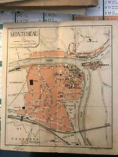 Plan de la ville de Montereau vers 1920 avec nom des rues
