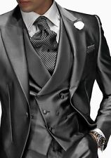 Fashion Peak Lapel Groomsmen Best Man Suit Formal Men Groom Tuxedos For Wedding