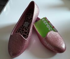 Crocs New Eve Sparkle Flat Blush Pink Color W/Tags U.S Size Girls 2 Free Post