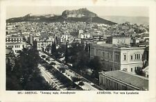 Athens panorama photo postcard semi-modern