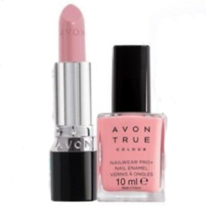 Avon Lipstick - Proper Pink + Nailwear Pro+ Nail Enamel - Candyfloss - BNIB