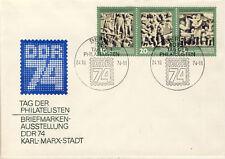 Ersttagsbrief DDR MiNr. 1988-1990, Tag der Philatelisten; Briefmarkenausstellung
