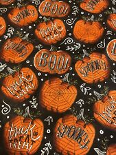 NEW TOILET LID TANK LID COVER SET HALLOWEEN BOO TRICK OR TREAT SPOOKY SPIDER WEB