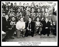 CFL 1951 Grey Cup Champion Ottawa Rough Riders Celebration 8 X 10 Photo Picture