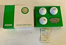 Vintage Zippo Golf Gift Set 4 Pc W/ Box Moored Construction Greens Keeper Tool