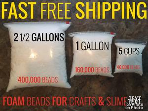 Polystyrene Styrofoam Foam Balls for Slime Polystyrene DIY Gift Styrofoam Beads