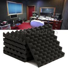 6Pcs Studio Noise Sound Proofing Acoustic Foam Egg Crate Panels Sheets new