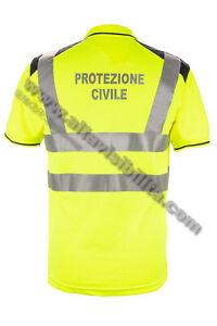 POLO TECNICA PROTEZIONE CIVILE ALTA VISIBILITA' 20471 GIALLO RIFRANGENTE TRASP.