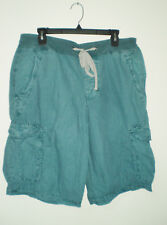 JAMES PERSE Men's Yosemite Cargo Shorts  1 (S) Pigment Washed Cerulean AQUA NWOT
