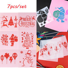 7pcs/set Christmas Layering Stencils Scrapbooking Embossing Painting Template