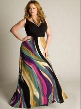Plus Size M-5XL Women Elegant  black rainbow Cocktail Party Maxi casual Dress