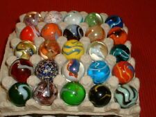 "Bulk Lot 25 - 1"" MEGA Shooter MARBLES,ALL DIFFERENT,FREE SHIPPING"