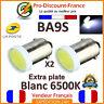 2 x Ampoule T11 BA9S T4W 6 LED 12V SMD 6500K Blanc Xenon Veilleuse