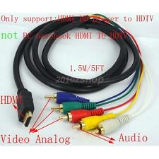HDMI auf 5 Cinch RGB Video Stereo AV-Komponenten-Karte Computer-Adapterkabel