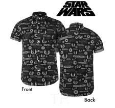 Star Wars (Talla L) con Logo Todo - Hombre Camisas