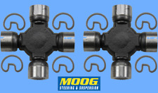 Set 2 HD Super Strength Driveshaft Universal Joints RWD 4WD Moog Non Greasable
