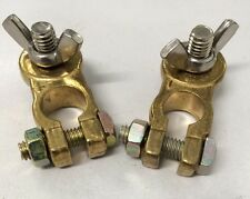 Pair POS and NEG Forged Brass Heavy Duty Wingnut Battery Terminal MA14HD Matson
