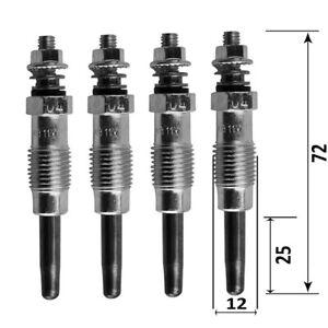 4 bougies de préchauffage R19 Clio Espace 2 Safrane trafic 1.6 D 1.9d 2.1d 2.5d