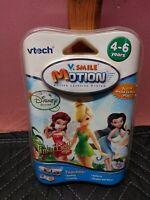 Vtech V.Smile V Motion Tinker Bell Learning Game Disney Fairies Ages 4-6 Sealed