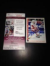 Vladimir Konstantinov Signed 1993-94 Score Card Red Wings JSA COA #H29424
