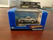 HO Scale 2007 Hot Wheels Diecast 1:87 Display Stand Car Porsche Cayman Silver