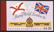 JERSEY 1990 Stamp World London BOOKLET SB42 FV £4.20  #M037