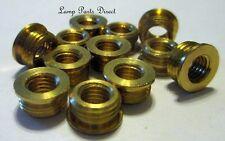 (Lot of 12) Brass Shoulder Reducers 1/8M x 1/4-27F
