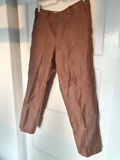 Mens Uniqlo U Regular Fit Ankle Length Trousers Brown - W31