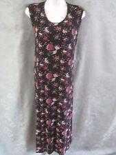 Vintage 90's Es Se Dress Plus Size 3Xl Floral Print Stretchy Jersey Knit