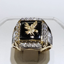 Yellow Gold Plated Jewelry Gift Size 8 New listing Fashion Eagle Rings for Men 18k
