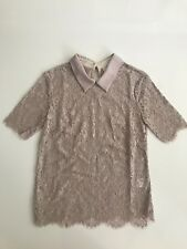 LOVER French Lace Top With Peter Pan Collar Size 6